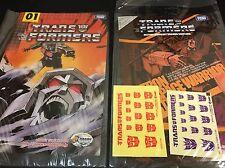 Transformers E-hobby Black Convoy Megatron and Sunstorm Special Manga + Stickers
