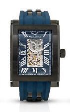 Aquaswiss 64XGA012 Automatic Tanc Black Ion Case Blue Silicon Strap Watch