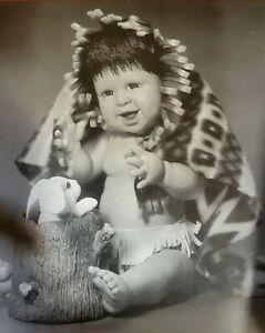 "PEEK-A-BOO BUNNY 11"" Porcelain Native American Doll by Sherry Housley"
