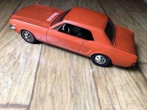 Vintage 1966 WEN MAC Ford Mustang GT 289 Battery Op Toy Car