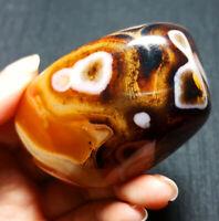 Top 116.6G Natural Polished Banded Agate Crystal Madagascar YO612