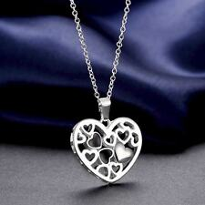 925 Silver Plated Noble Chic Korean Heart Series Necklace Women Jewelry Gifts