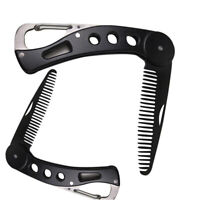 Portable Beard Comb Mens Shaving Pocket Comb Male Stainless Steel Mustache Brush