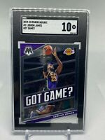 2019 Panini Mosaic #7 LeBron James Got Game Lakers - SGC 10 - GOAT