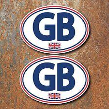 GB Union Jack Stickers 130x90mm Car Van Camper Motorbike Scooter Vespa Decals