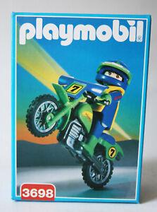 RARE VINTAGE 1994 PLAYMOBIL 3698 MOTOCROSS OFF ROAD MOTORBIKE SPAIN NEW SEALED!