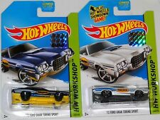 2014 HOT WHEELS FACTORY SET WORKSHOP 1972 FORD GRAND TORINO SPORT X2 BOTH COLORS