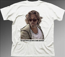 Big Lebowski The Dude funny Cash Machine Bunnie white cotton t-shirt 9840