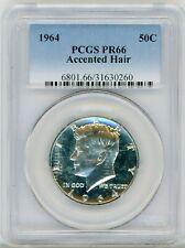 1964 Kennedy Half Dollar 50C Accented Hair PCGS PR 66