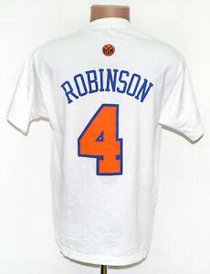 NBA NEW YORK KNICKS COTTON TEE BASKETBALL SHIRT #4 ROBINSON  REEBOK SIZE S ADULT