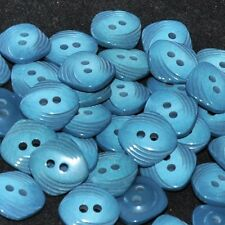 Mercerie lot de 5 boutons carrés plastique bleu vert 12mm button
