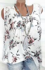 Gr. 44-46-48 Sommer Top Tilda (Weiß) Damen Hängerchen Tunika T-Shirt Bluse