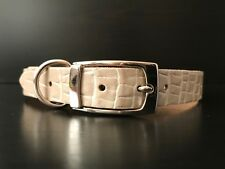 Handmade MED Real Leather Dog Collars Beagle, Cocker Spaniel, Maltese, Dachshund