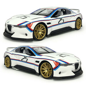 1:24 BMW 3.0 CSL Hommage R Coupe Model Car Diecast Vehicle White Collection Gift