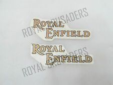 BRAND NEW ROYAL ENFIELD GOLDEN STICKER (PAIR) FOR PETROL TANK