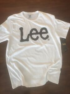 LEE PREMIUM  THE LEE LOGO  WHITE  T-SHIRT (M)$ 29