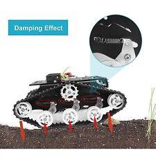 Tracked Robot Smart Car Platform Dual Dc 9V Motor Damping Tank Chassis Diy Stem