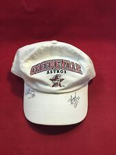 AWESOME MILB GREENEVILLE ASTROS HAT DUAL SIGNATURE ADJUSTABLE HAT