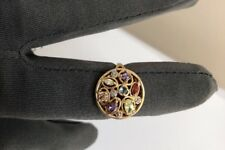QVC Designer Gold Multi Gem Sterling Silver 925 Ring Topaz Amethyst Citrine