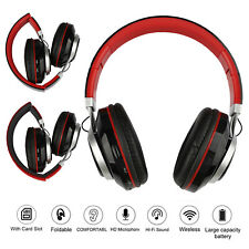 Wireless Bluetooth 5.0 Noise Canceling Over Ear Headphones Mic Stereo Headsets