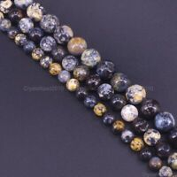 Natural Blue Ocean Jasper Gemstone Round Beads 6mm 8mm 10mm 12mm 14mm 15.5''