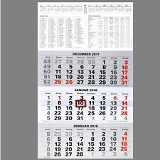 XXL 3 Monatskalender 2018 großer Kombi Wandkalender für Büro Bürokalender NEU