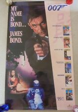 JAMES BOND 007 ORIGINAL USA VIDEO COLLECTION POSTER ROLLED 1988 Sean Connery