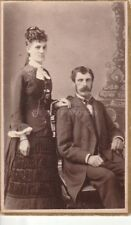 Couple From Before Found Photo bw Free Shipping Original Portrait Antique 87 4