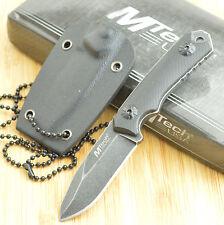 """MTech 4 3/4"""" Stonewash Finish Black G-10 Handle Tactical Neck Knife 2030BK"""