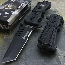 Licensed Tanto Marines Liberty Ii Mtech Usa Spring Assisted Open Folding Knife