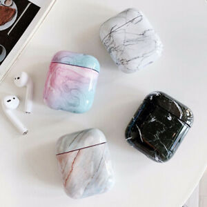 For Apple AirPods 2 1 Charging Case Marble Pattern Earphone Cover Case Protector