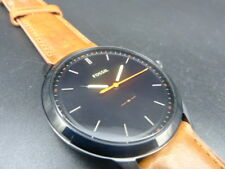 New Old Stock - Fossil MINIMALIST FS5305 - Black Dial Brown Leather Men Watch