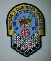 Boy Scout OA Section SC-3 1987 Conclave Oskihoma No Tab