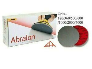 "Mirka Abralon Sanding Discs/Pads 150mm (6"") Wet or Dry DA Sander Grits 180-4000"