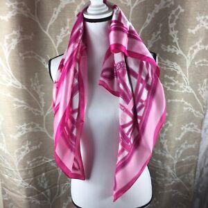 "Avon Breast Cancer Awareness Bandana 36"" Pink White Satiny Feel"
