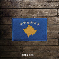 KOSOVO Flag Embroidered Iron On Sew On Patch Badge For Clothes Etc