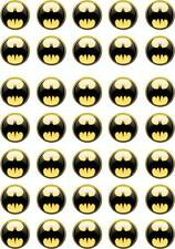 35 BATMAN bat man Cup Cake Fairy Bun Edible Wafer Rice Toppers Birthday Party