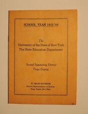 1943 -1944 University of NY State Education Department Directory Tioga NY