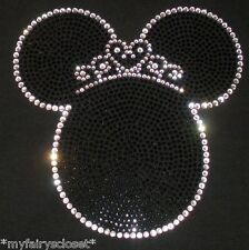 Tiara Princess Minnie Mouse iron on rhinestone transfer applique bling patch