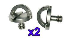 "2x captive 1/4"" charnière d ring tripod/monopod/quick release camera vis"
