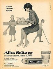 PUBLICITE ADVERTISING  1965    ALKA SELTZER