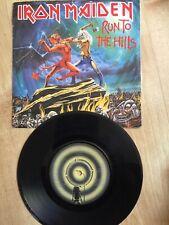 "Iron Maiden  ""Run To The Hills "" 1982 [EMI5263] 7"" Vinyl  Rock "" EMI"""