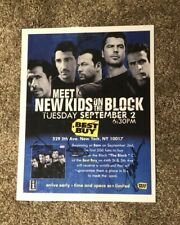 New Kids On The Block Autograph Picture Donnie/Jordan/Joey/Jonath an/Danny