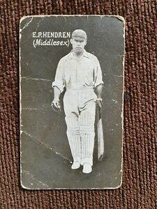 "GIANT LICORICE ENGLISH CRICKETERS 1928 Series E.P. ""Patsy"" HENDREN Middlesex"