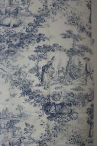 Tissu ancien toile de jouy personnages 50 cm x 120 cm
