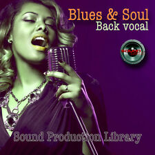 BLUES & SOUL Back Vocal - Perfect 24bit WAVE Multi-Layer Samples Library on CD