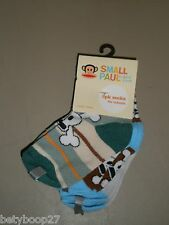Small Paul Frank Julius Monkey Scurvy Blue Green Baby 3 pack Socks NWT Sz Infant