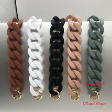 Detachable Resin Alloy Handbag Chain Strap Replacement DIY Bag Belt Women Giirls