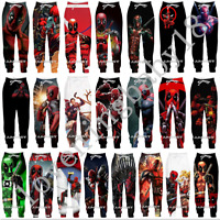 Men Women Casual Jogger Trousers Cool Deadpool 3D Print Fitness Sweatpants Pants