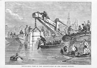 Diving-Bell.Construction.Thames Tunnel.1879.Rotherhithe.Old and New London